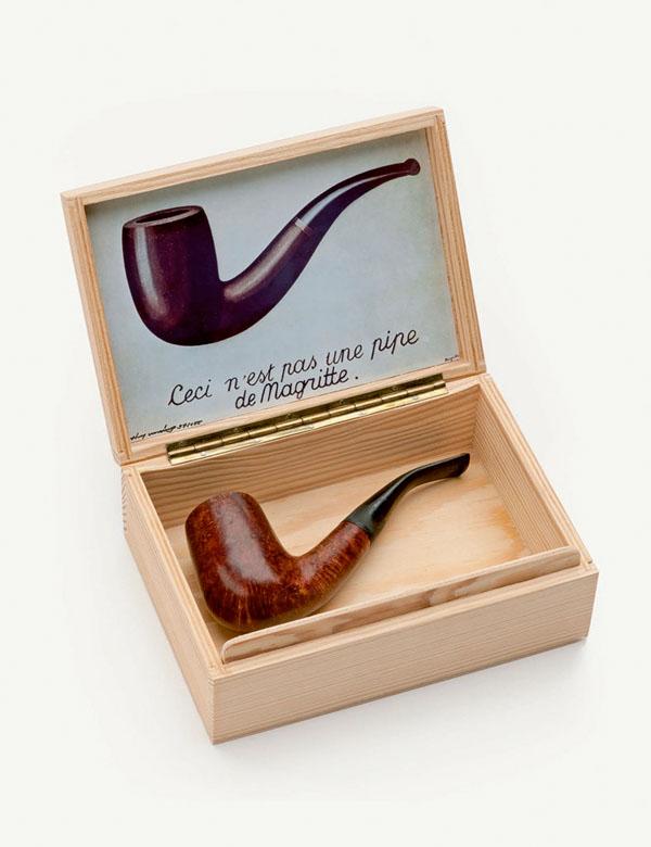 Ceci n'est pas une pipe de Magritte