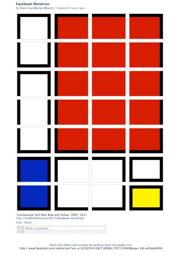 Facebook Mondrian