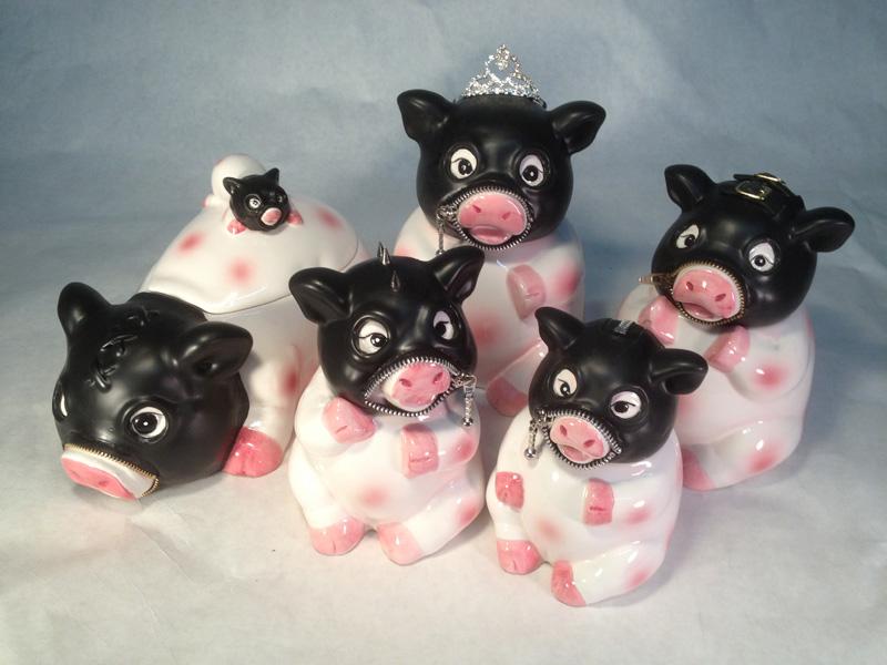 5 pig set
