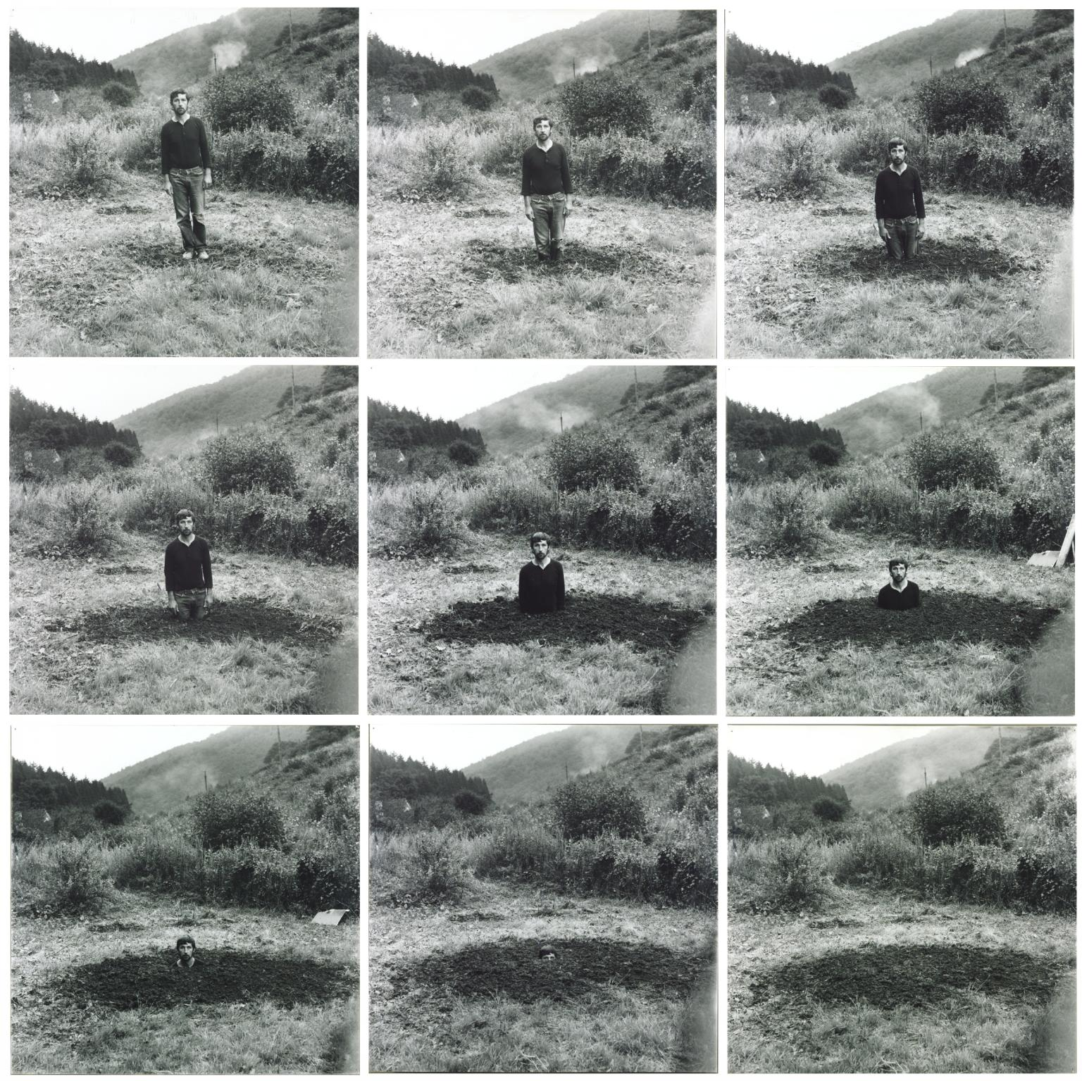 Self-Burial (Television Interference Project) 1969 Keith Arnatt 1930-2008 Presented by Westdeutsches Fernsehen 1973 http://www.tate.org.uk/art/work/T01747